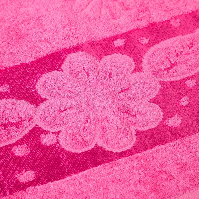 """Набор махровых полотенец """"Florans"""" 50х90 см, 70х130 см, 450 г/м2, бамбук 100 %, розовый"""