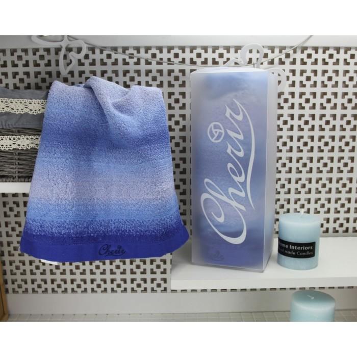 Набор полотенец Эсприт 2шт, 68х137 см, 31х70 см, голубой, 400гр/м2