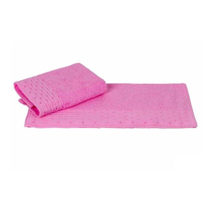 Полотенце Gofre, размер 70 × 140 см, розовый