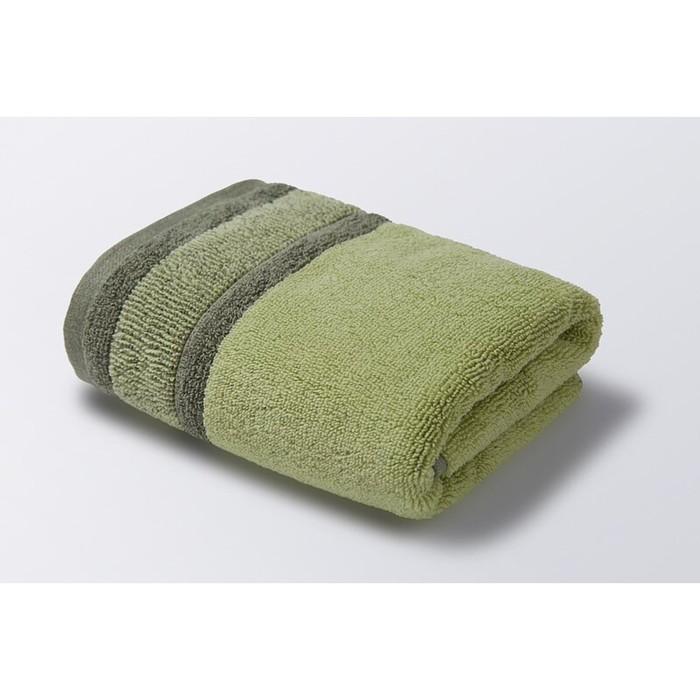Полотенце «Ориго», размер 70 × 130 см, махра, цвет салатово-оливковый