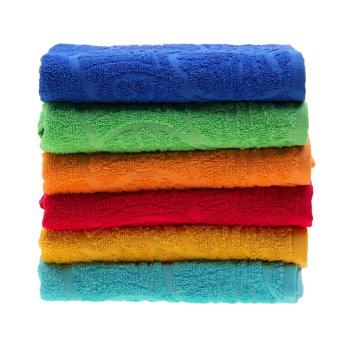 "Полотенце махровое ""Волна"", размер 50х90 см, 300 гр/м2, цвет светло-зелёный"