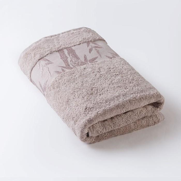 Полотенце «Бамбук», размер 90 × 150 см, махра, цвет бежевый