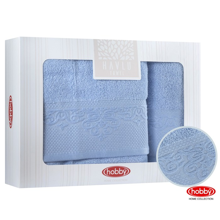 КМП Alice, 50 × 90 см - 1 шт, 70 × 140 см - 1 шт, синий