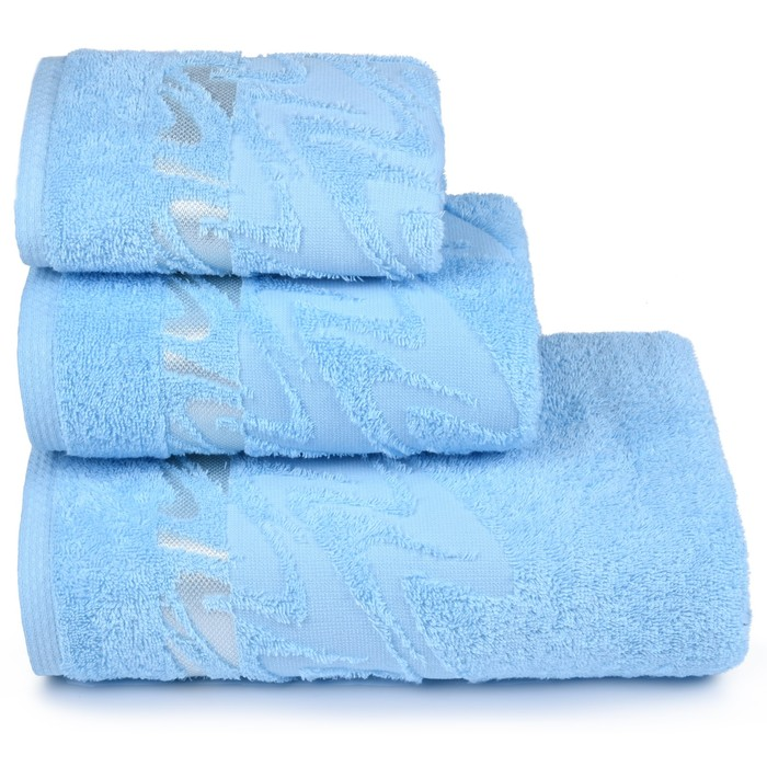 Полотенце махровое Brilliance 40х60 см, 14-4311 голубой, хлопок 100%, 415 гр/м2