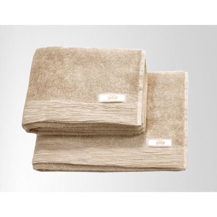 Полотенце Silk, размер 70 × 135 см, бежевый