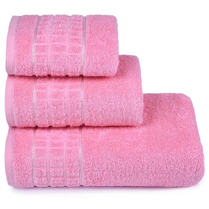 Полотенце махровое Megapolis 40х60 см, 14-1911 розовый, хлопок 100% 415 гр/м2