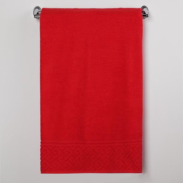 Полотенце махровое Олимп ПД-2601-03085, 50х90, цв. 28, красный, хл. 100%, 305 гр/м