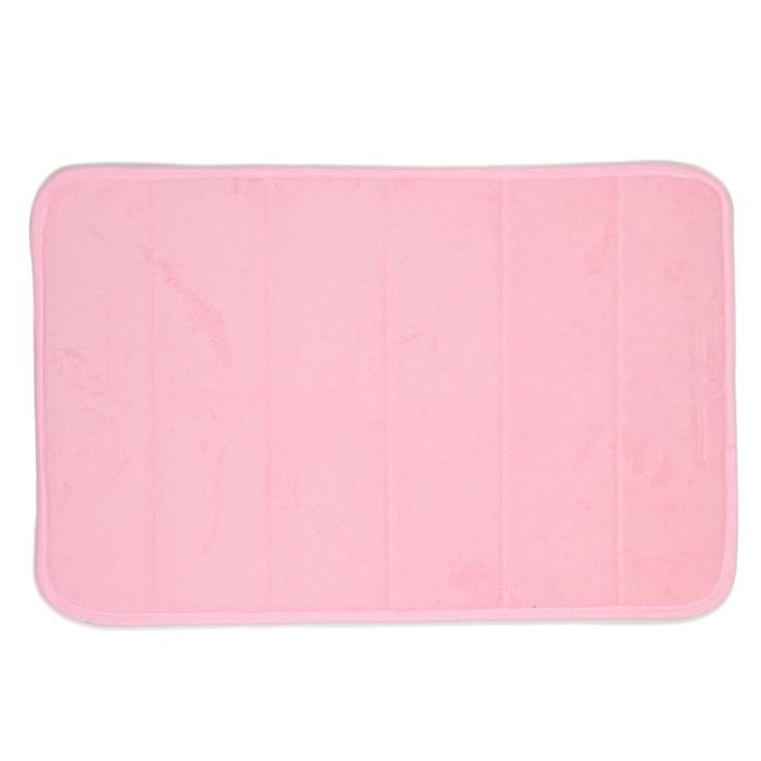 Коврик для ванной, цвет розовый