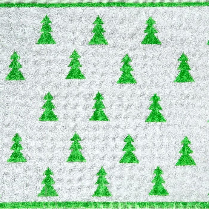 Полотенце махровое Privilea, арт. 19С4 рисунок  Ёлочки 2, цвет зеленый, размер  50х30, 100%   448839