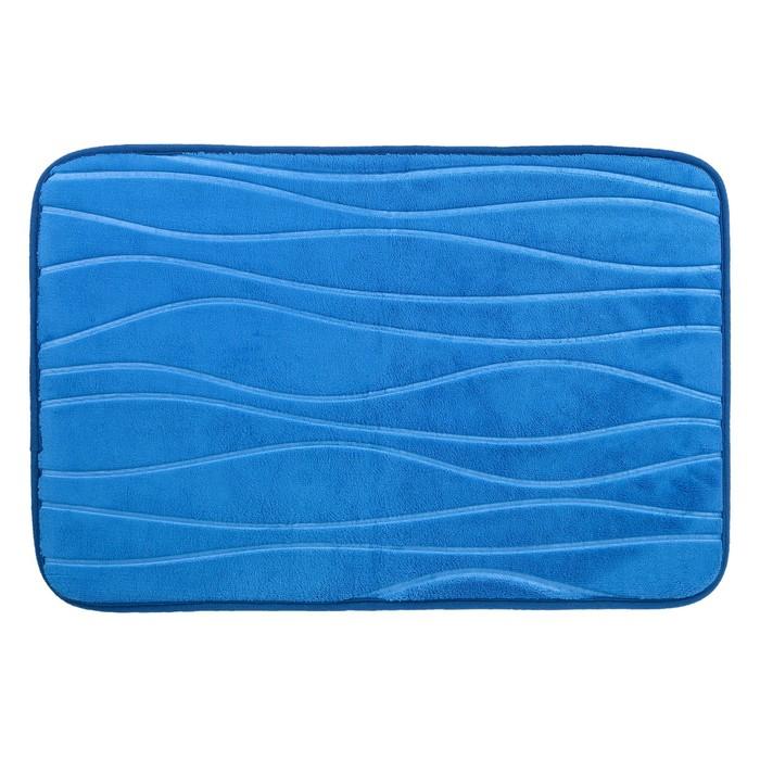 """Коврик для ванной """"Клементе"""", цвет синий"""