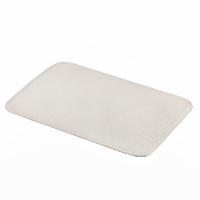 """Коврик для ванной 38×58 см """"Лён"""", цвет бежевый"""
