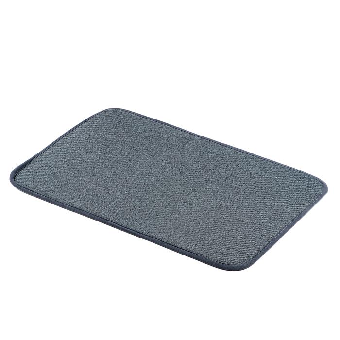 """Коврик для ванной 38×58 см """"Лён"""", цвет серый"""