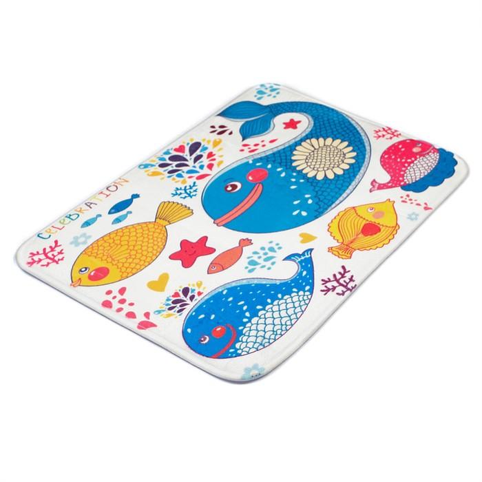 """Коврик для ванной """"Морские рыбки"""""""