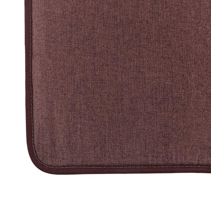 """Коврик для ванной 38×58 см """"Лён"""", цвет коричневый"""
