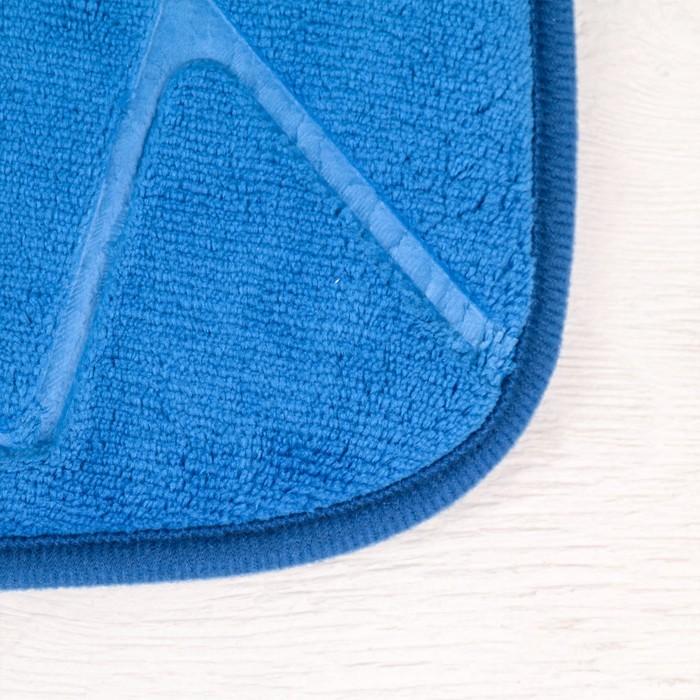 """Коврик для ванной """"Камни острые"""", цвет синий"""