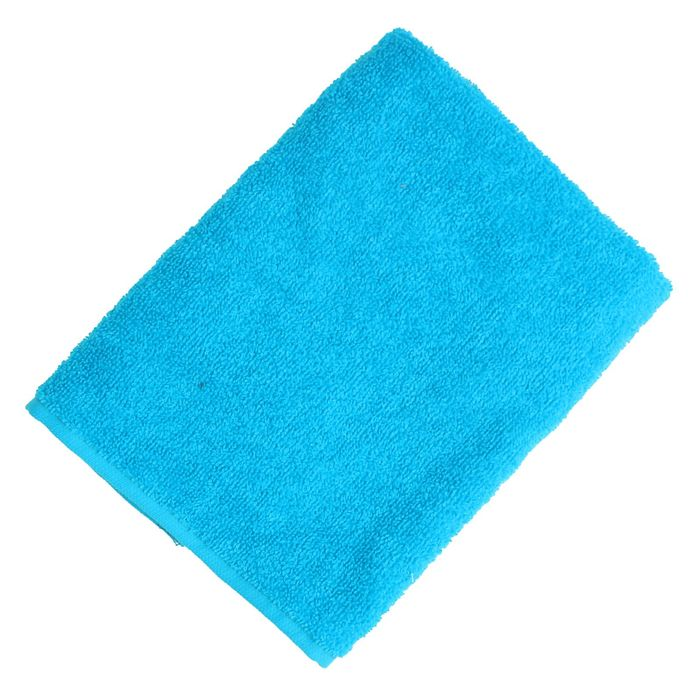 """Полотенце махровое """"Экономь и Я"""" 30х30 см голубой, 100% хлопок, 340 г/м2"""