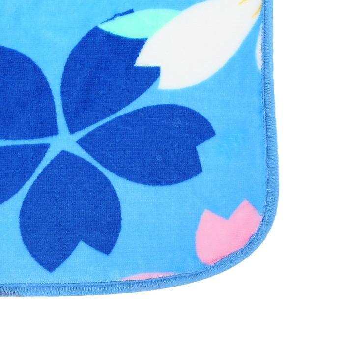 """Набор ковриков для ванной и туалета """"Цветы на голубом"""", 3 шт"""