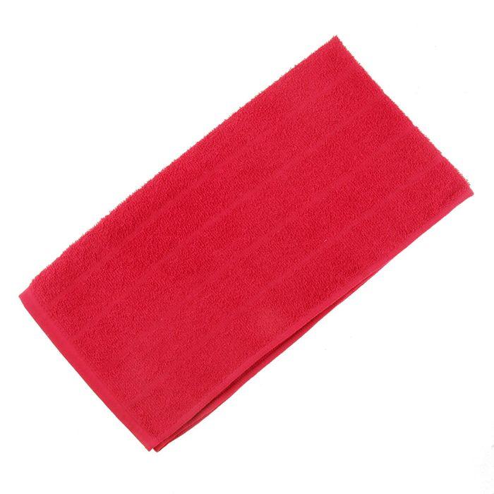 Полотенце махровое жаккардовое 47×90 см хлопок 280 г/м2 Красный
