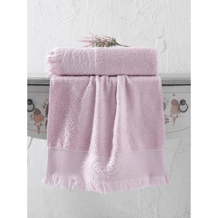 Полотенце Diva, размер 70 × 140 см, грязно-розовый