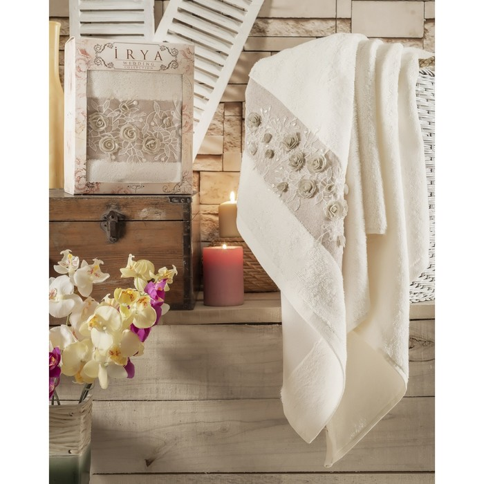 Полотенце Heaven, размер 85 × 150 см, бежевый