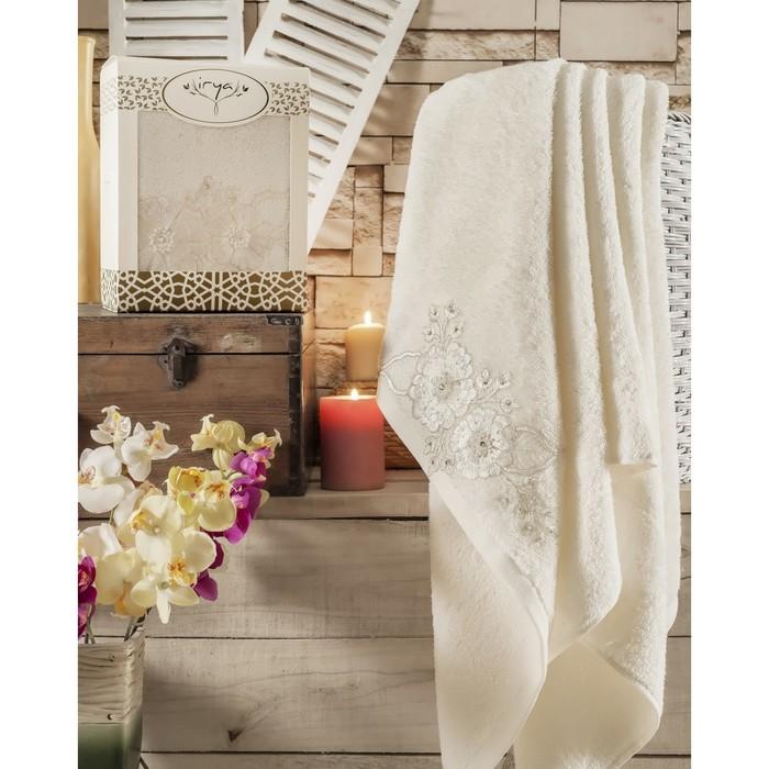 Полотенце Fleur, размер 85 × 150 см, молочный
