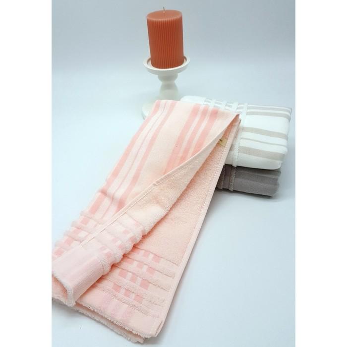 Полотенце махровое «Элит: Полоса», 34х76 см, розовый