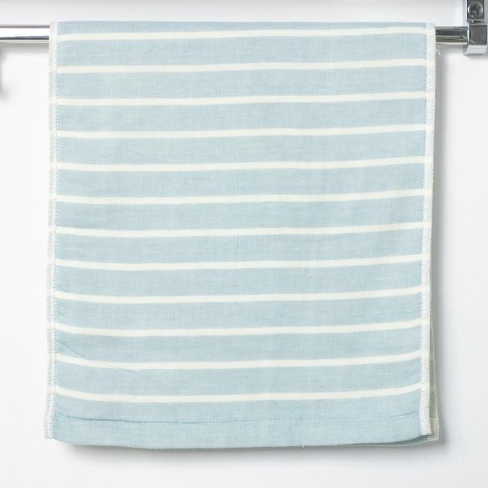 """Полотенце двухстороннее """"Этель"""" Модерн голубой 35х75 см, 380 г/м2, 100% хлопок"""