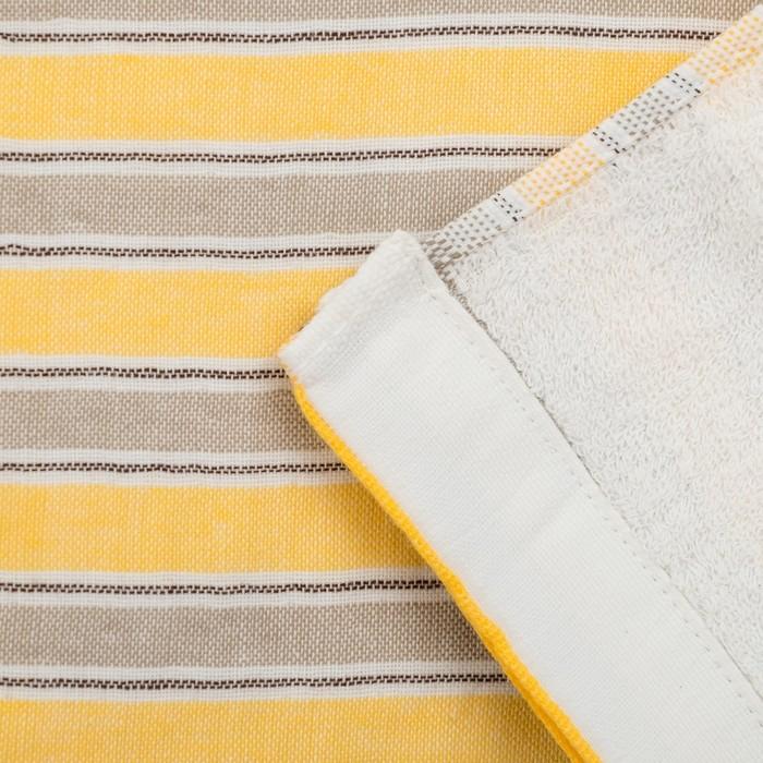 """Полотенце двухстороннее """"Этель"""" Геометрия цв. желтый 35х75 см, 380 г/м2, 100% хлопок"""