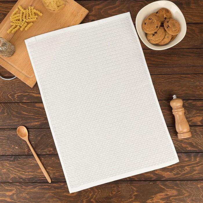 Полотенце Элиза 40х60 см, белый, хлопок 100%, 200 г/м2