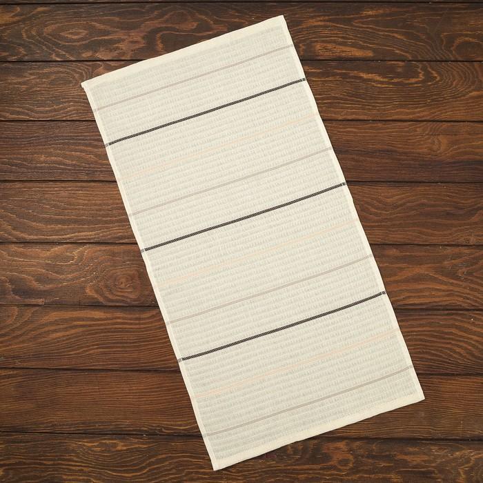 Полотенце вафельное Spany Home ECO 30х60 см, коричневый, 100% хлопок, 240гр/м²