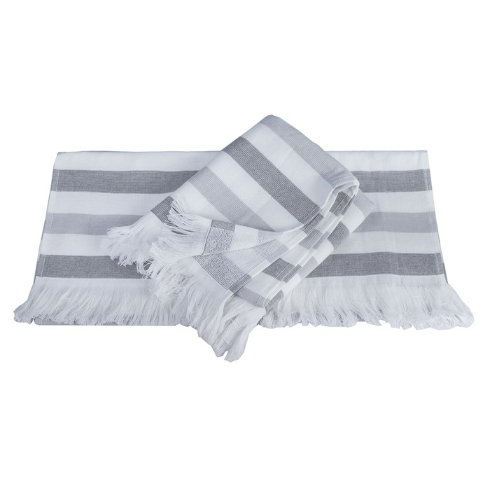 Полотенце Stripe, размер 30 × 50 см, серый