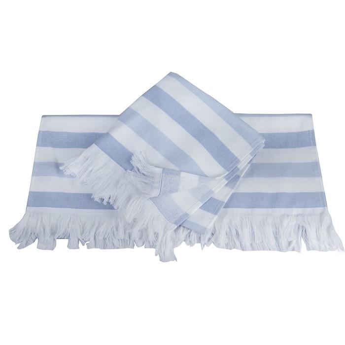 Полотенце Stripe, размер 30 × 50 см, голубой