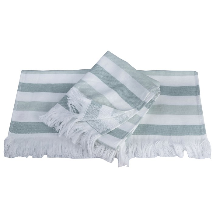 Полотенце Stripe, размер 30 × 50 см, зелёный