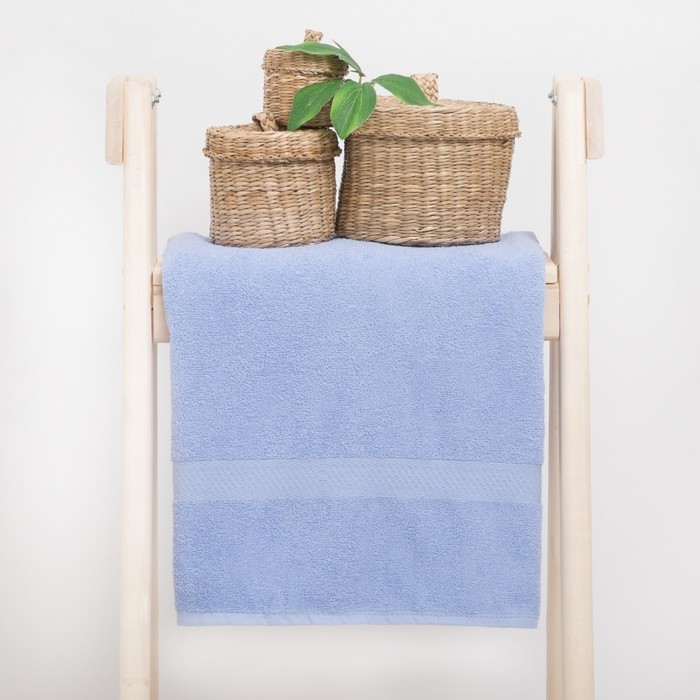 """Полотенце махровое """"Grace""""  50х90 см, цв.голубой 360 гр/м2, 100% хлопок"""