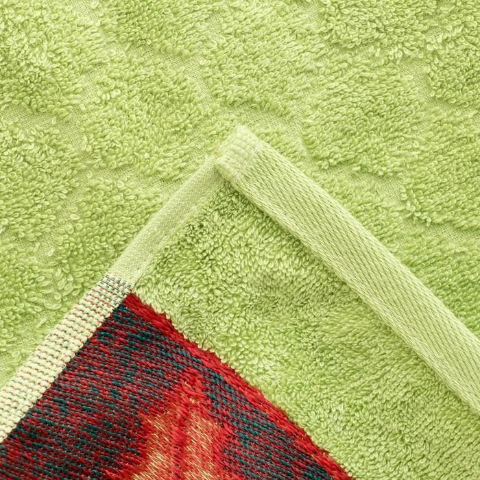 """Полотенце махровое """"Остролист"""" 50х90 см,400 г/м2,зелёный, 100% хлопок"""