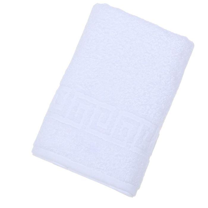 Полотенце махровое однотонное Антей 50х90 см, белый, 100% хлопок, 430 гр/м2