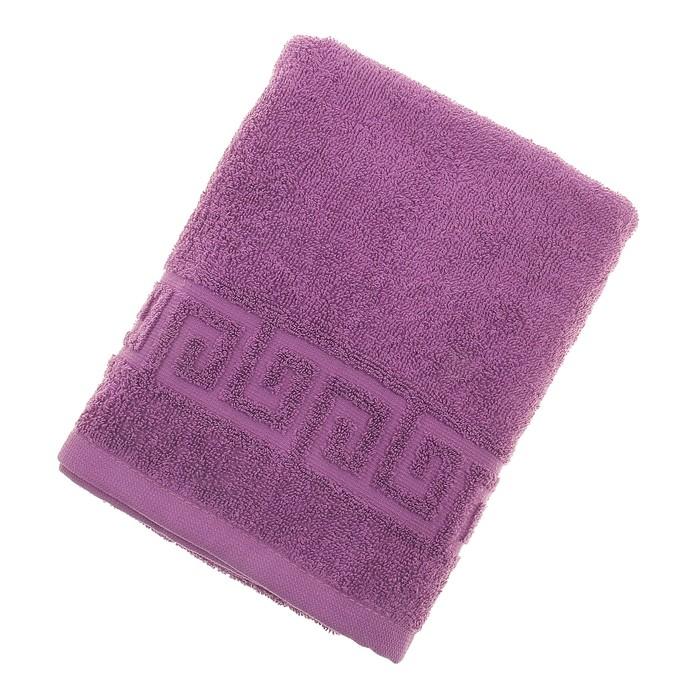 Полотенце махровое однотонное Антей цв т-фиолетовый 50*90см 100% хлопок 430 гр/м2
