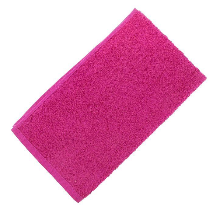 Полотенце махровое жаккардовое, 40×70 см, цвет розовый, хлопок 280 г/м2