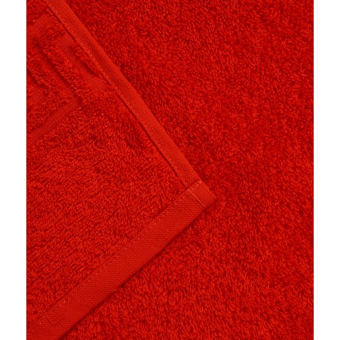 Полотенце махровое 50х90 см, красный, хлопок 100%, 430 г/м2