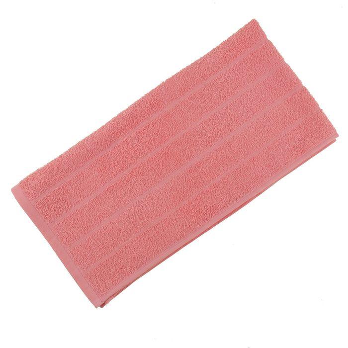 Полотенце махровое жаккардовое 40×70 см хлопок 280 г/м2 Светло-Корал