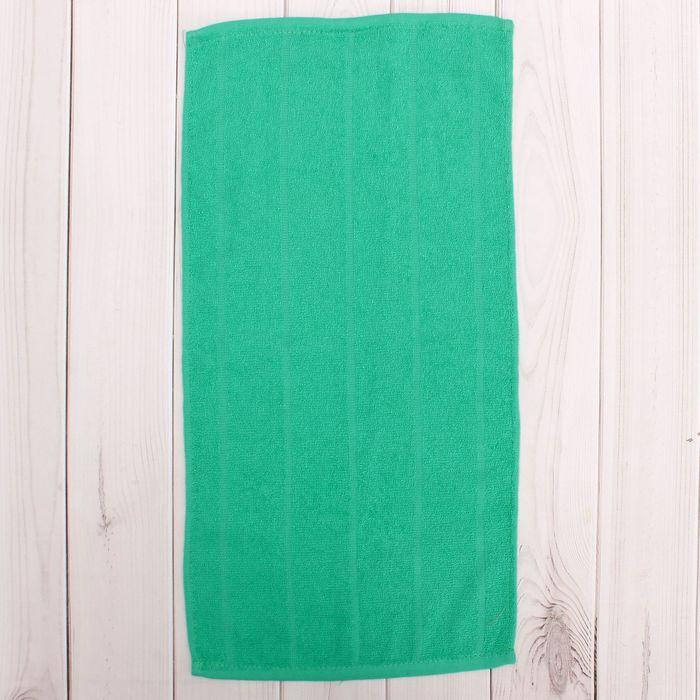 Полотенце махровое, цвет морская волна, размер 40х70 см, хлопок 280 г/м2