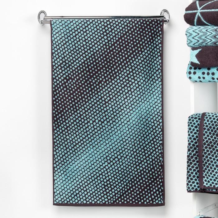 """Полотенце махровое """"Этель"""" Градиент цвет бирюза, 50х90 см, 100% хл, 420 гр/м2"""