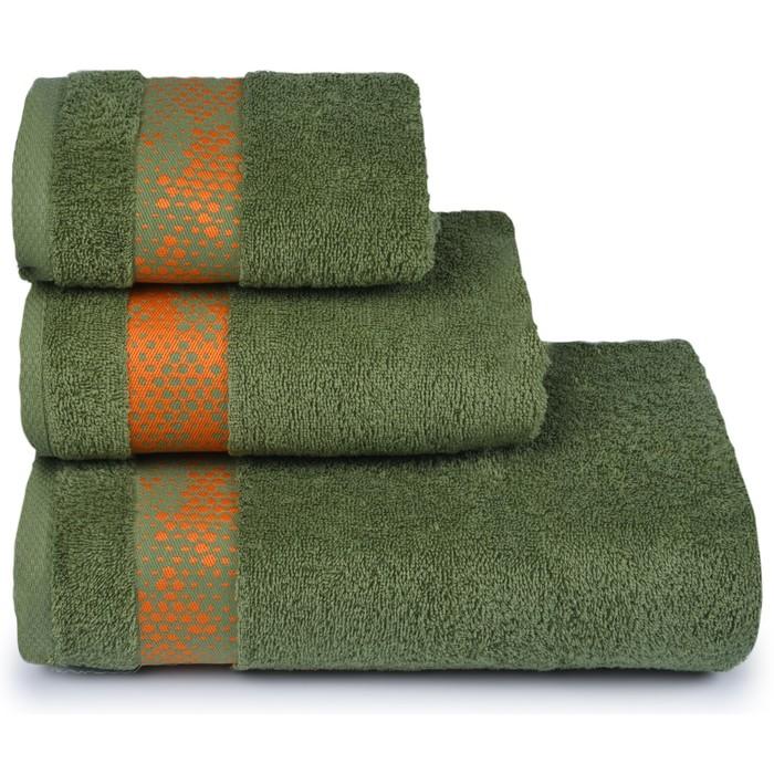 Полотенце махровое Element 50х90 см, 17-0330 зеленый, хлопок 100%, 400 гр/м2