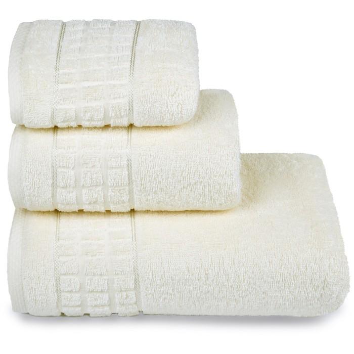 Полотенце махровое Megapolis 50х90 см, 11-0107 молочный, хлопок 100% 400 гр/м2