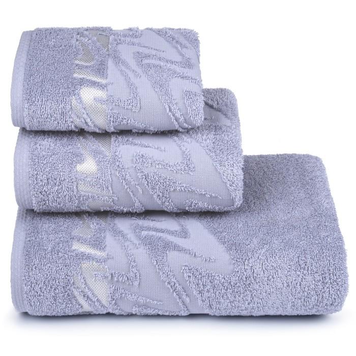 Полотенце махровое Brilliance 50х90 см, 16-3850 серый, хлопок 100%, 400 гр/м2