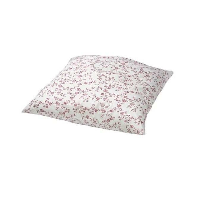 Наволочка ХЭССЛЕКЛОККА, размер 70х70 см, цвет белый, розовый