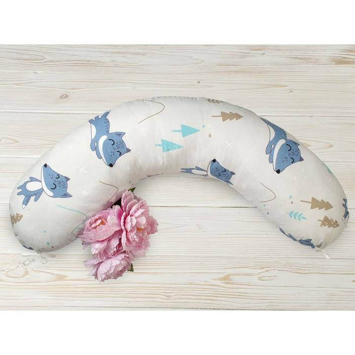 Наволочка к подушке для беременных, размер 25 × 170 см, принт в лесу