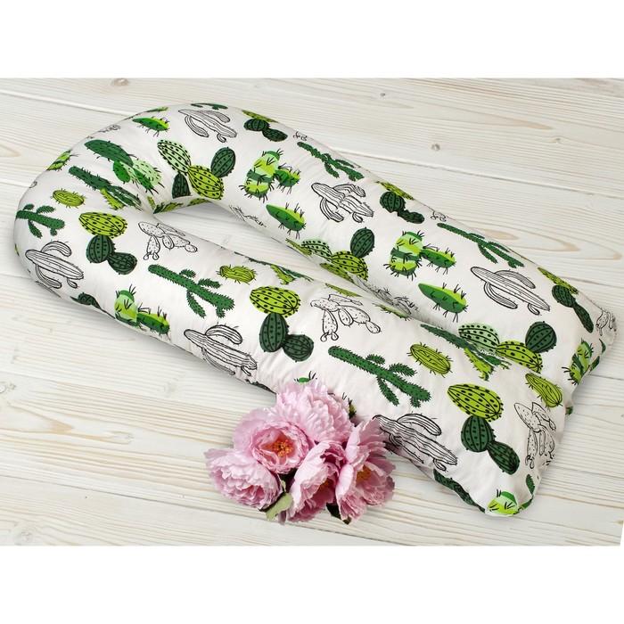 Наволочка к подушке для беременных U-образная, размер 35 × 340 см, принт кактусы