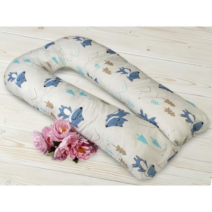Наволочка к подушке для беременных U-образная, размер 35 × 340 см, принт в лес