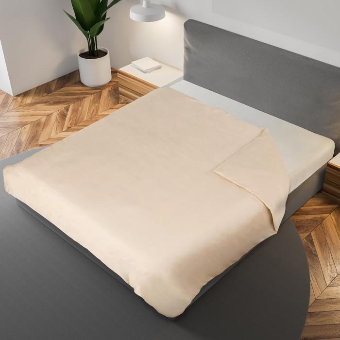 Пододеяльник «Этель» 175×210 см., цвет бежевый, 100% хлопок, мако-сатин, 125 г/м²